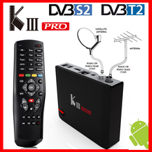 Mecool kiii pro DVB T2 DVB S2 DVB C android 7.1 caixa de tv 3 gb 16 amlogic s912 octa núcleo wifi 4 k combo newcamd biss chave powervu