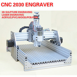 CNC 2030 Control numérico máquina de tallado Mini grabador abierto CNC2030 enrutador máquina Hobby DIY máquina de grabado láser