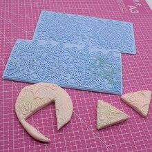 Textura de argila emboss esteira designer diy argila jóias grande laço mandala flor veia accessorie ferramentas 2 padrão diferente