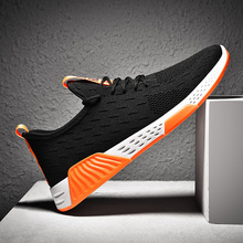 2019 Summer Men Fashion Running Shoes Mesh Breathable Casual Sports Shoes Lace-up Stability Cushioning Light Running Sneakers li ning women s 2017 light smart running shoes cushioning lining breathable fabric sneakers comfort light sports shoes arkm024