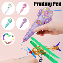 BENTOBEN 3D Pen Original DIY 3D Printing Pen With ABS Filament Creative Toy Birthday Gift For Kids Design Drawing