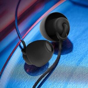Image 5 - Силиконовые наушники вкладыши с разъемом 3,5 мм, проводные наушники с шумоподавлением, Повседневная гарнитура для сна, наушники вкладыши
