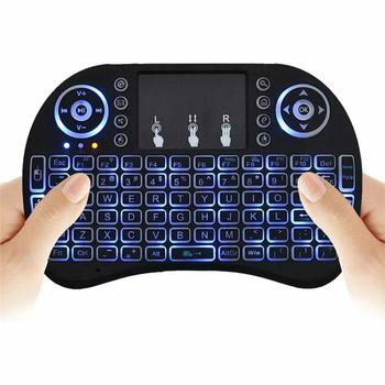 I8 Minikeyboard Russian English Version 2.4GHz Wireless Mini Keyboard i8 Wholesale Backligh Remote Control Keyboard Touchpa Z9A4