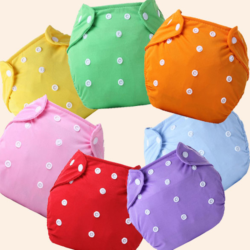 10 Pcs/lot  Baby Diaper One-size Adjustable Washable  Diaper Learning Pants Training Pants