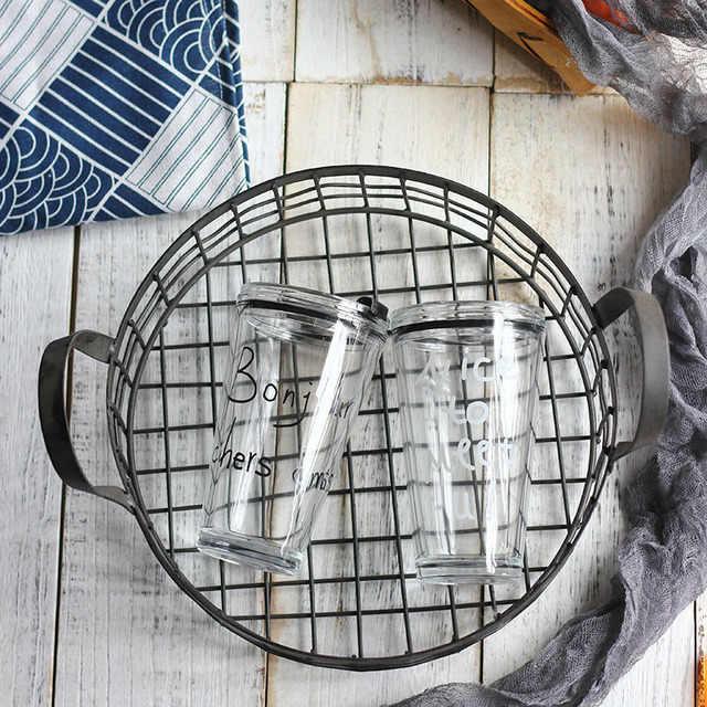 Nordic INS szkła pipety kubek alfabetu wody kubek gospodarstwa domowego ograniczone kubek do soku o dużej pojemności szklany kubek samochodowy