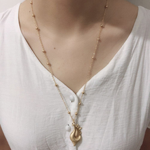 Exknl Fashion Vintage shell Collar Choker Necklace Gold Color Boho Power Big Pendant Women Beach Jewelry Collier 2019