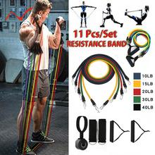 11pcs/set Pull Rope Fitness Exercises Resistance Bands Latex