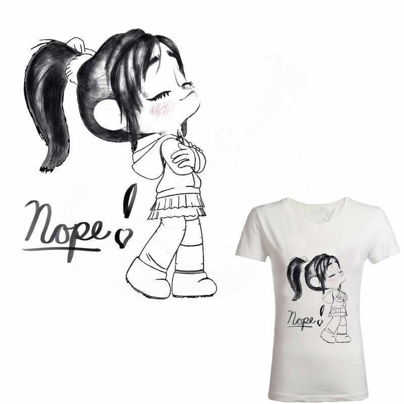 Новая милая маленькая принцесса заплатка для одежды DIY Детская футболка одежда толстовка наклейка с термопереносом