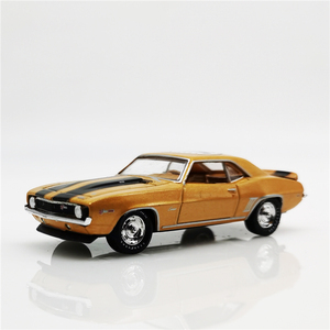 M2 1:64 Chevrolet Camaro 60 Years 1969 Gold Diecast Model Car Loose