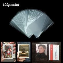 100 pçs manga de cartão jogo de tabuleiro mágica tarô três reinos cartões poker protetor para ateez stray crianças bangtan meninos nct photocard