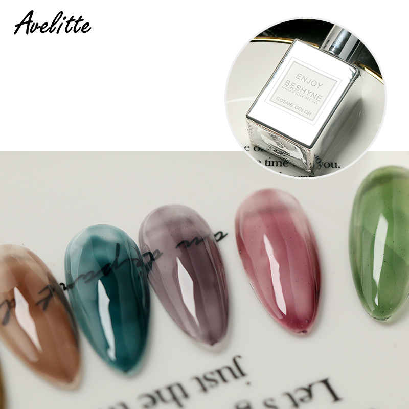 Avelitte Nail Polish Grey Grape Purple Violet Nail Polish Japanese Style Red New Nail Shop Glass Jelly Phototherapy Gel A Bottle