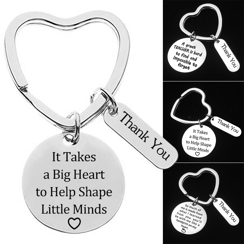 3Pcs Teacher Appreciation Gift Keychain Set For Teachers Thank You Birthday Christmas Gifts LXY9