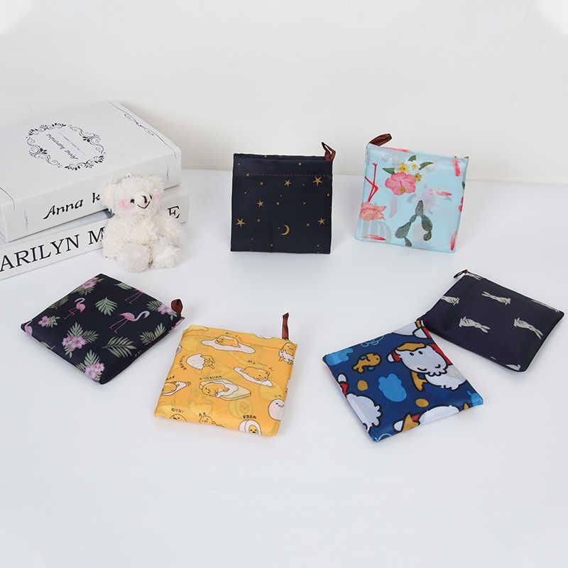 قابلة لإعادة الاستخدام صديقة للبيئة البقالة أكياس تسوق قابلة للطي حجم صغير قسط جودة طفيف واجب للطي حمل حقيبة مع مقبض
