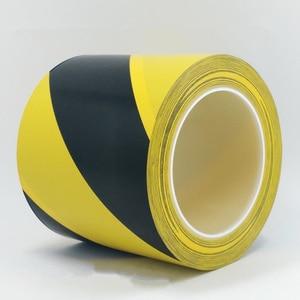 Image 5 - 33M Forte pvc di Sicurezza di Avvertimento Nastro Adesivo Nero Giallo impermeabile Autoadesiva Trazione Nastro di Marcatura per il Magazzino Della Fabbrica Posto di Lavoro