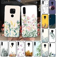 Watercolor plants with flowers Soft Silicone TPU Phone Cover for Huawei P9 10 lite P20 P30 pro lite Psmart mate 20 pro lite phone cases for huawei p9 lite 3d cute cartoon plants cactus soft silicone back cover capa for huawei ascend p9 p9lite fundas
