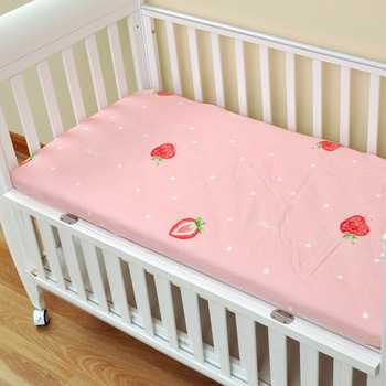 Cotton Crib Fitted Sheet Soft Breathable Baby Bed Mattress Cover Cartoon Newborn Bedding For Cot 130x70cm Bedding Bed Baby baby bed mattress cover soft protector cartoon printed newborn baby bedding for cot 100% cotton crib fitted sheet size 130 70cm