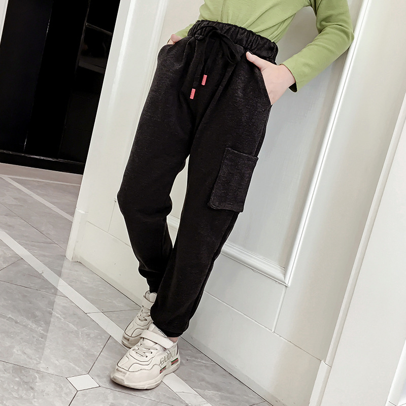 Teenage Kids Pants For Girls Autumn Casual Fashion Loose Retro Sport Kids Harem Pants School Children Trousers 6 8 10 12 Year