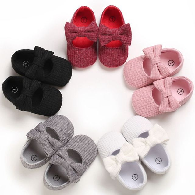 Baby Girls Cotton Shoes Retro Spring Autumn Toddlers Prewalkers Cotton Shoes Infant Soft Bottom First Walkers 0-18M