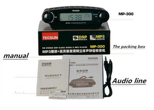 Image 5 - Tecsun Radio MP 300 Dsp Fm Stereo Usb MP3 Player Desktop Klok Ats Alarm Black Fm Draagbare Radio Ontvanger Y4137A Tecsun MP300