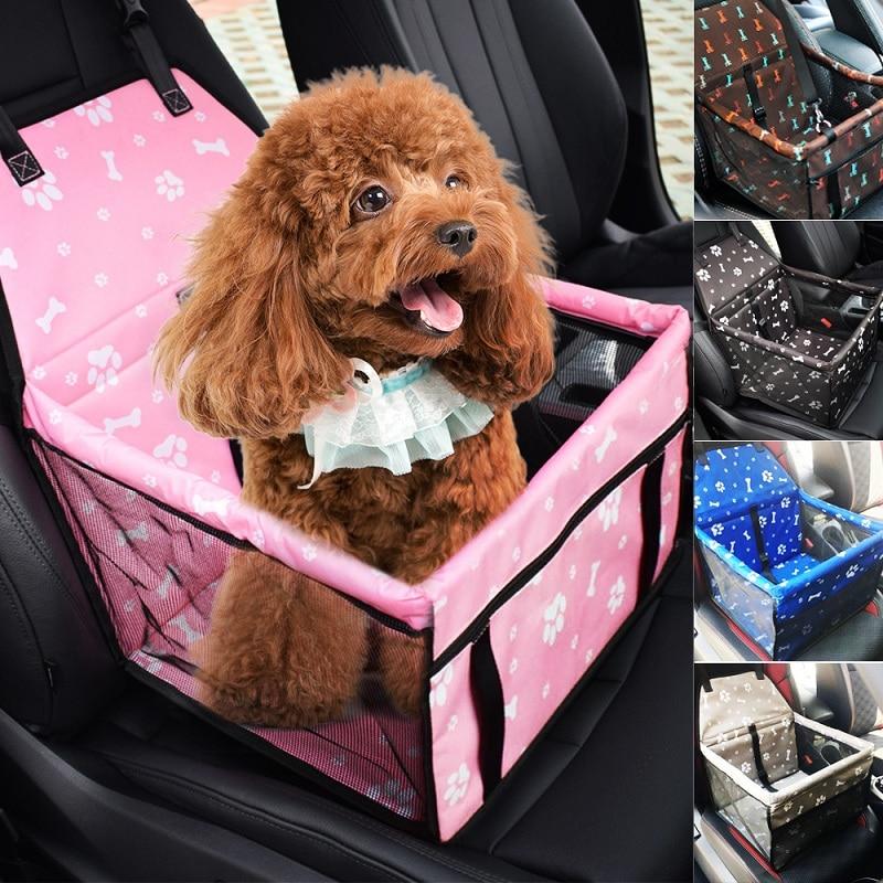 Seyahat köpek araba taşıyıcı klozet kapağı katlanır hamak evcil hayvan taşıyıcıları çantası taşıma köpekler kediler için Transportin Pet sepeti su geçirmez
