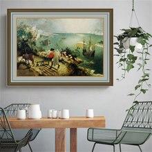 風景秋のイカルスによるブリューゲル (父、クラシックアートキャンバスプリント絵画ポスター壁の写真家の装飾
