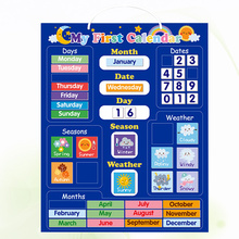Board Magnetic-Plate Calendar Cognitive Early-Educational Funny English 1set