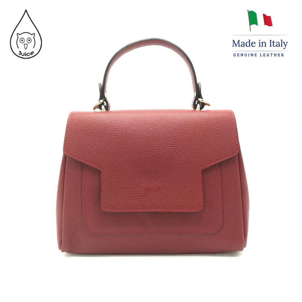 Juice Brand, Genuine Leather Bag Made In Italy, Shoulder Handbag 079.412