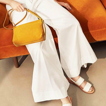 Women Yellow Flap Bag Designer Simple Shoulder Bag Faux Sedue Crossbody Bags For Women 2020 Ladies Fashion Leather Handbags 2020