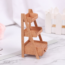 Model Furniture-Accessories Dollhouse Wood-Shelf Mini Flower-Stand 1:12 1pc Simulation