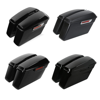 Motorcycle Hard Saddle Bags Trunk Latch For Harley Touring Road King Road Glide Street Glide Electra Glide 2014-2020 motorcycle driver passenger seat for harley touring electra road king street glide road glide ultra limited flhr 2009 2020