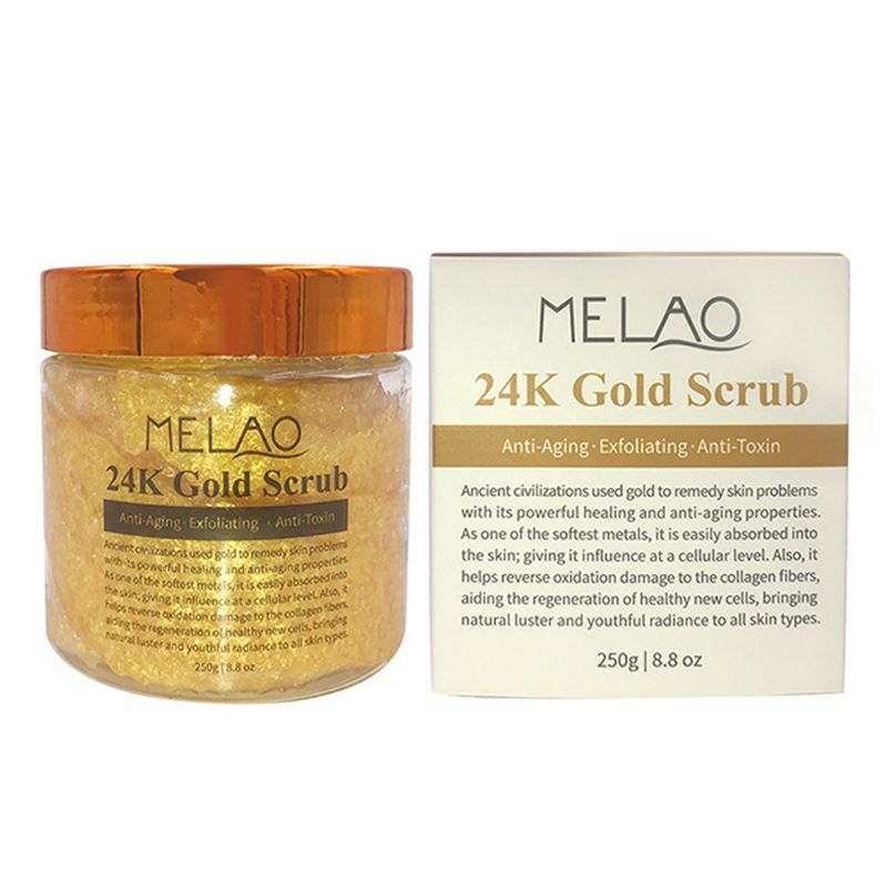250g Gold Body Facial Scrub Cream Anti Aging Radiance Firming Skin Whitening  NEW