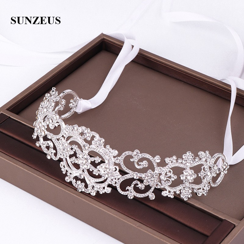Shinny Crystal Bridal Headband Silver/ Gold/ Rose Gold Bride Hairband Wedding Accessories Headdress SQ453