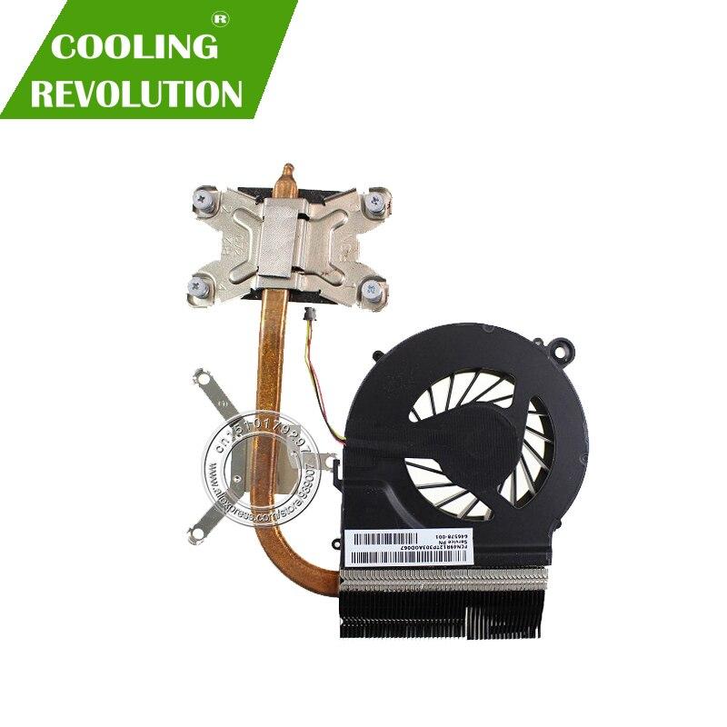 Radiador novo para hp pavilion G4-1000 G6-1000 G7-1000 g4 g6 g7 portátil cpu dissipador de calor refrigerador de ventilador de refrigeração 643259-001 646578-001 fab9