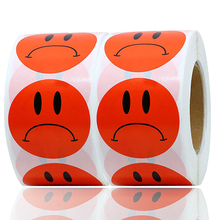500PCS Red Crying face Sad Sticker Label DIY Office Good or Bad Item Tags Teacher Children Game Stationery Unhappy