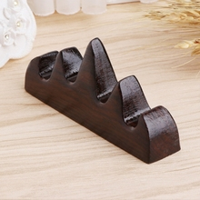 Vintage Wooden Brush Rest Stand Chinese Calligraphy Pen Rack Holder  Drop shipping
