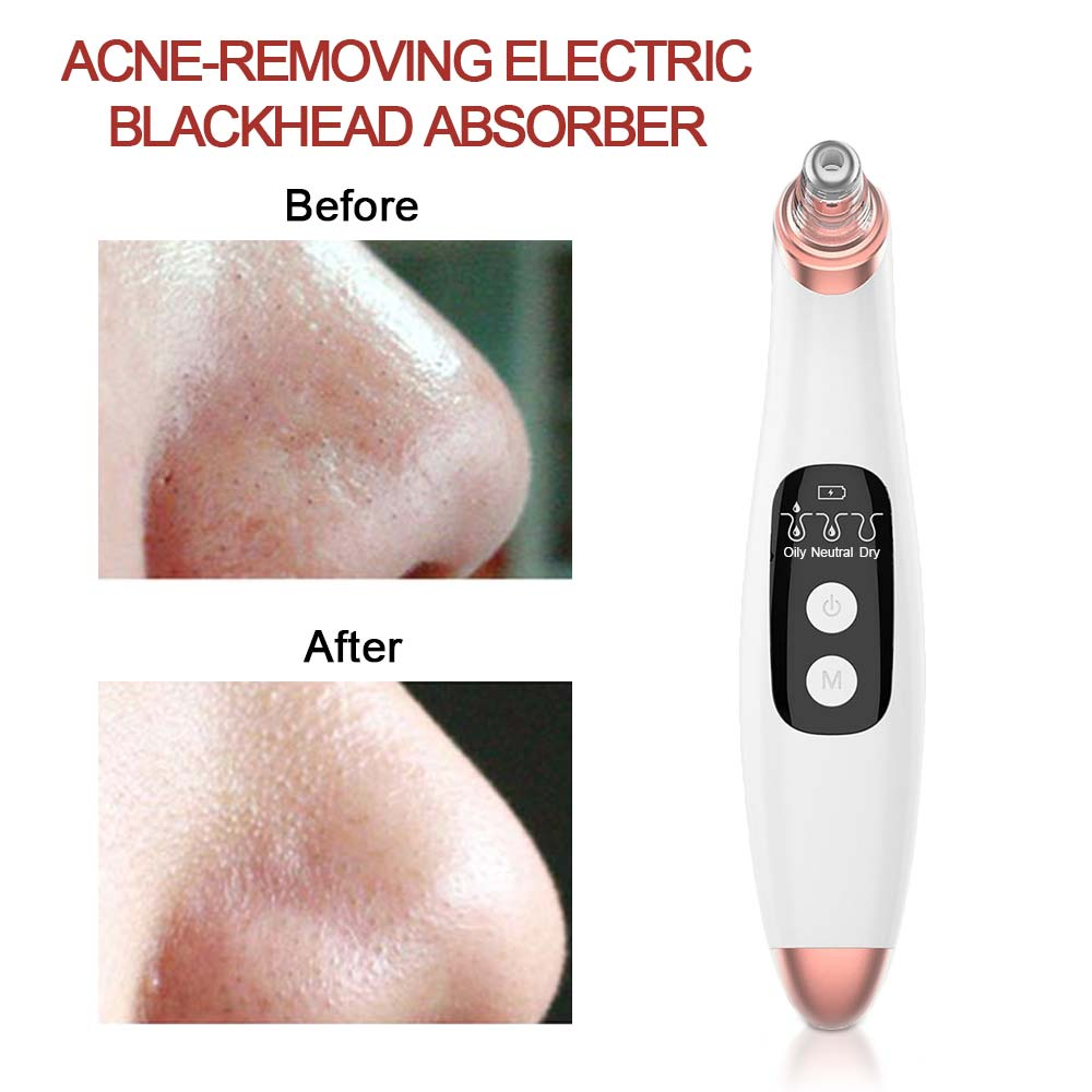 Electric Facial Pore Cleaner Exfoliator Face Blackhead Remover Acne Vacuum Deep Cleansing Suction Machin Nano Sprayer Steamer