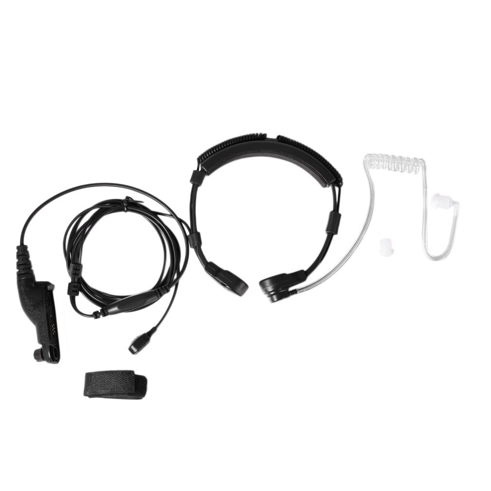 Onleny Walkie Talkie Stretchable Throat Control Acoustic Tube Headset Earpiece For Motorola XIR P8260/8268/6550/P8200/P8208