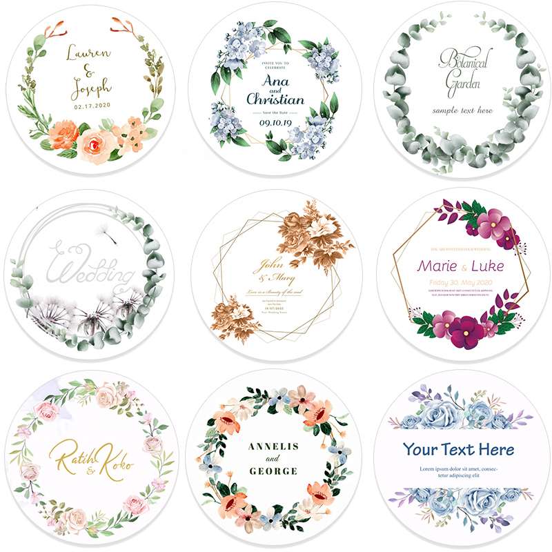Gift-Boxes Paper-Labels Invitations-Seals Adhesive Wedding-Stickers Favors Names Your