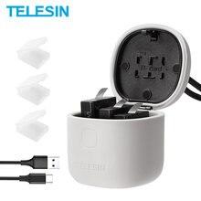 Телесин по 3 предмета в комплекте Батарея & 3 слота Батарея Зарядное устройство с устройство для считывания с tf-карт футляр для хранения с фун...