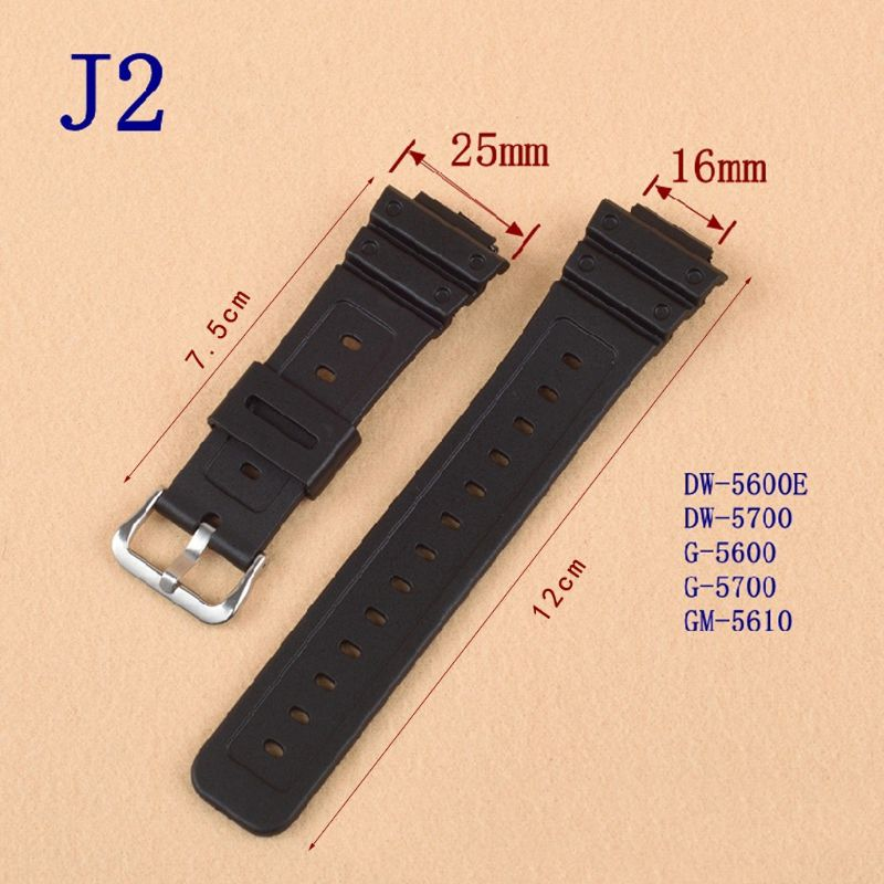 Watchband Watchband Wrist Strap Band Slicone Stainless Steel Buckle Adjustable Replacement for 5600 Series  DW-5600E DW-5700