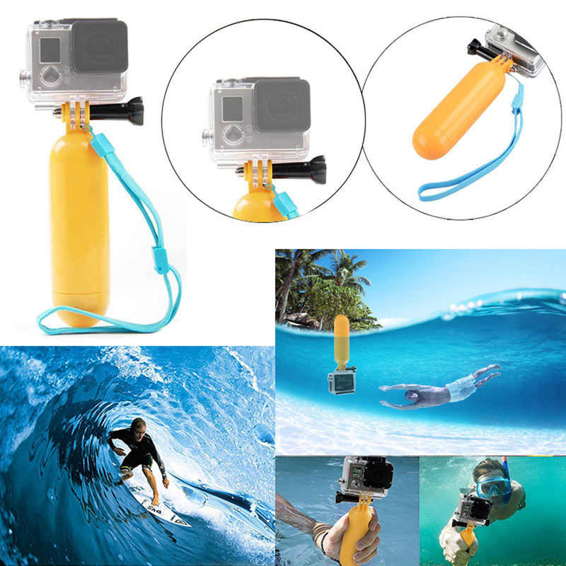 For Gopro Hero 4 3+ 2 1 Bobber Floating Handheld Monopod Hand Grip Accessories for SJCAM SJ4000 5000 for Xiaomi Yi Action Camera