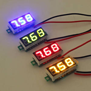Current-Meter-Tester Ammeter Led-Display Yellow 100V Green Blue Red Mini DC Dual White