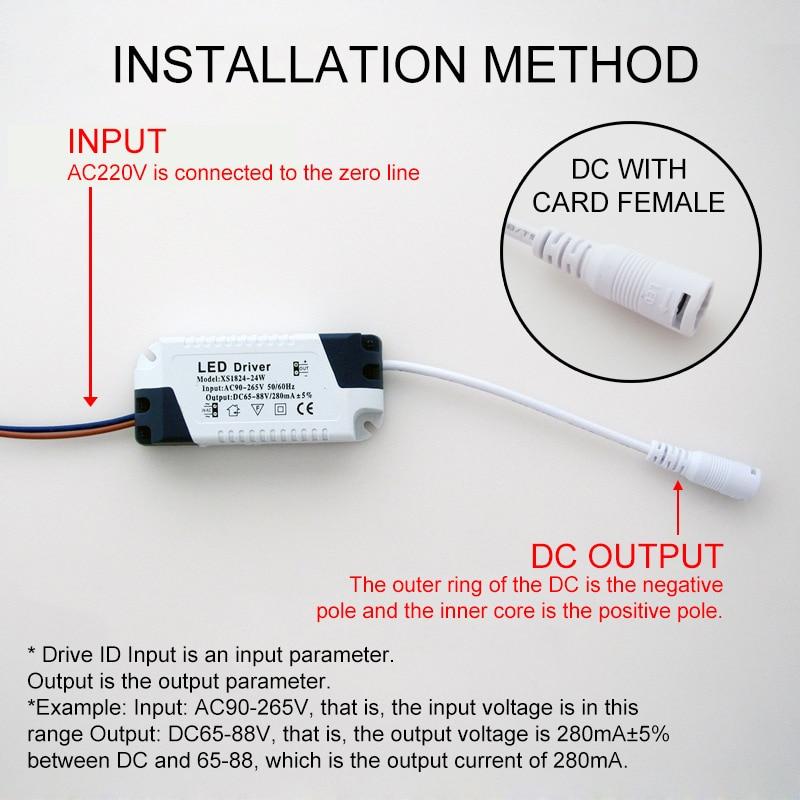 1built-in постоянный ток освещения 110-265V Выход 300mA Trans forme-3W,4-7 Вт, 8-12 Вт, 15-18 Вт, 20-24 Вт, 25-36 Вт Светодиодный драйвер источника питания