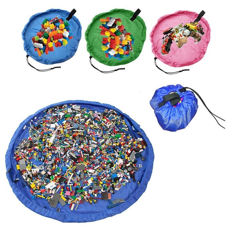 H202dafa558f74956b697d7918529828an 2020 Multifunctional baby toy fast storage bag play mat outdoor children's waterproof toy mat beam storage bag beach mat