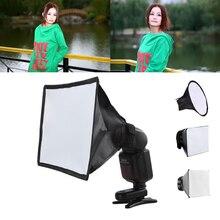 แฟลชDiffuser Reflector Softbox Professional Mini Photo Diffuserรอบสแควร์กล่องไฟอ่อนสำหรับกล้องCanon Nikon Sony
