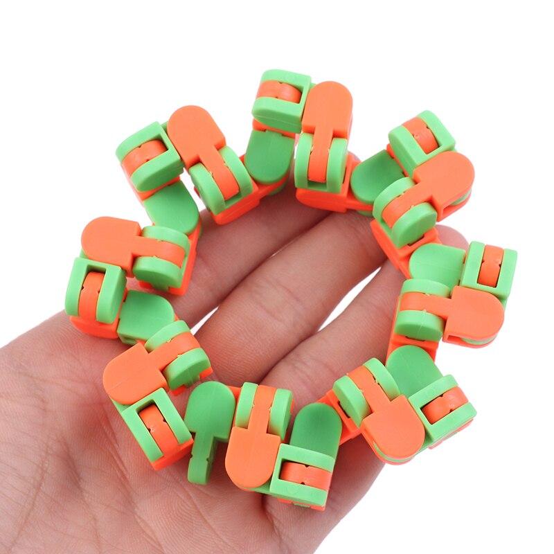 Sensory Toy Puzzles Decompression-Toys Fidget Autism Wacky Tracks Click Snake And 24-Links img3