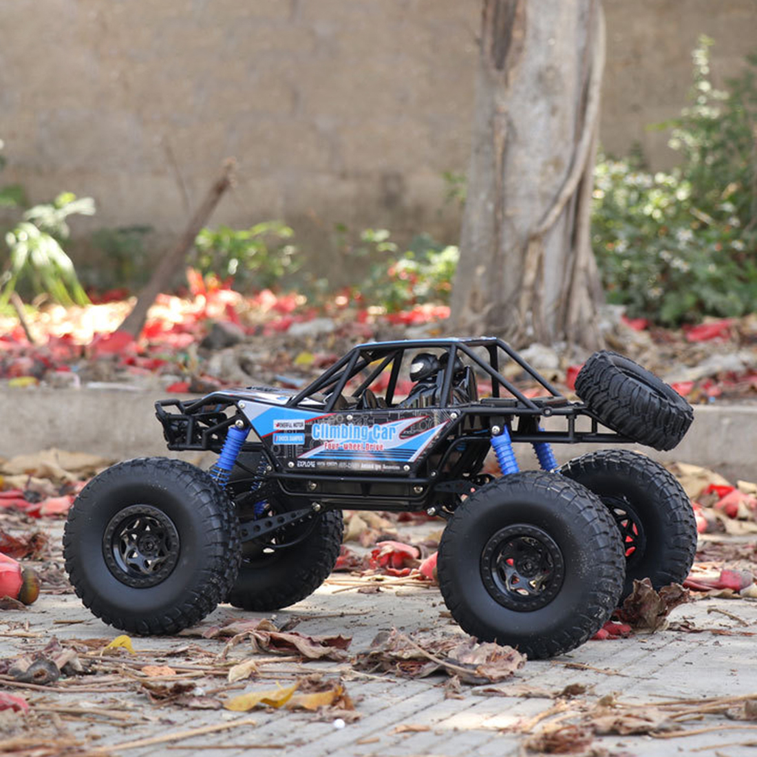 48cm 1:10 4WD 2.4G RC Monster Truck High Speed Racing Car Off Road Vehicle For Child School Play Education Birthday Gift Blue - 5