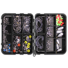 160pcs Fishing Accessories Kit Set With Fishing Tackle Box Including F