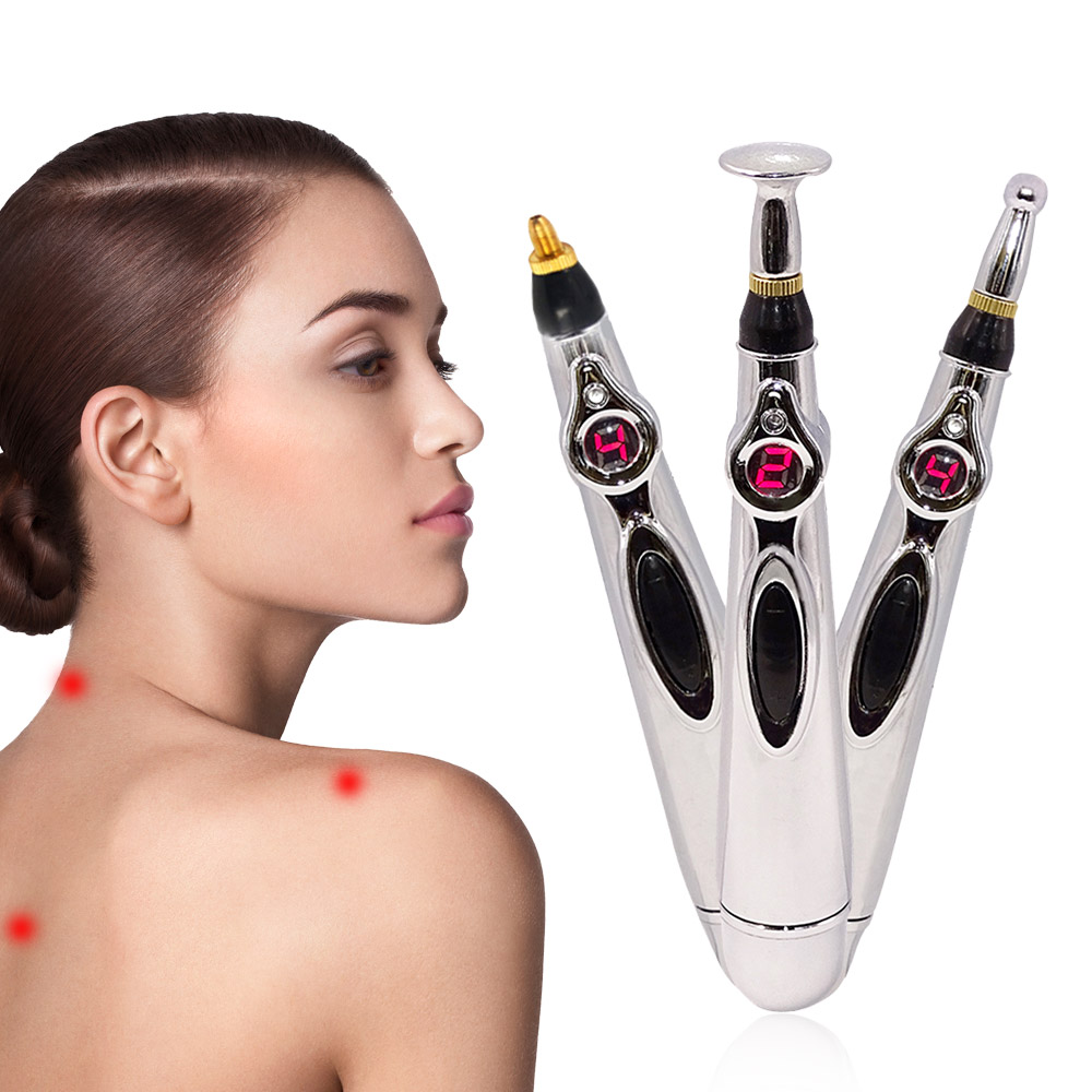 2020 Newst Electronic Acupuncture Pen Electric Meridians Laser Therapy Heal Massage Pen Meridian Energy Pen Relief Pain Tools 1