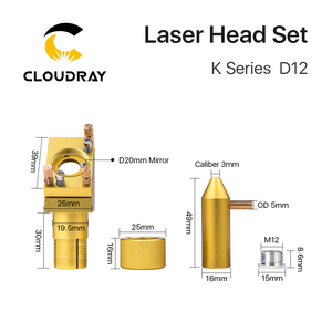 Image 4 - Cloudray K סדרת כחול זהב CO2 לייזר ראש סט עם עדשת מראה עבור 2030 4060 K40 לייזר חריטת מכונת חיתוך